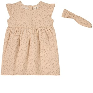 Buddy & Hope Kids' Sand Dandelion Dress Set In Beige
