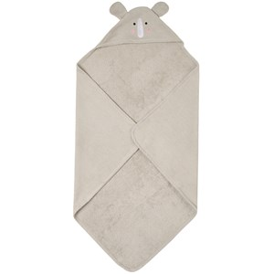 Buddy & Hope Kids'  Bath Cape Rhino In Gray
