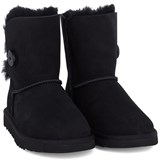 UGG Black Bailey Button Mid Boots