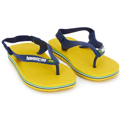 Havaianas Kids Yellow Baby Brazil Sandals