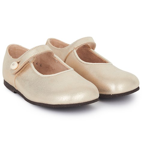 Start-rite Gold Leather Mary-Janes