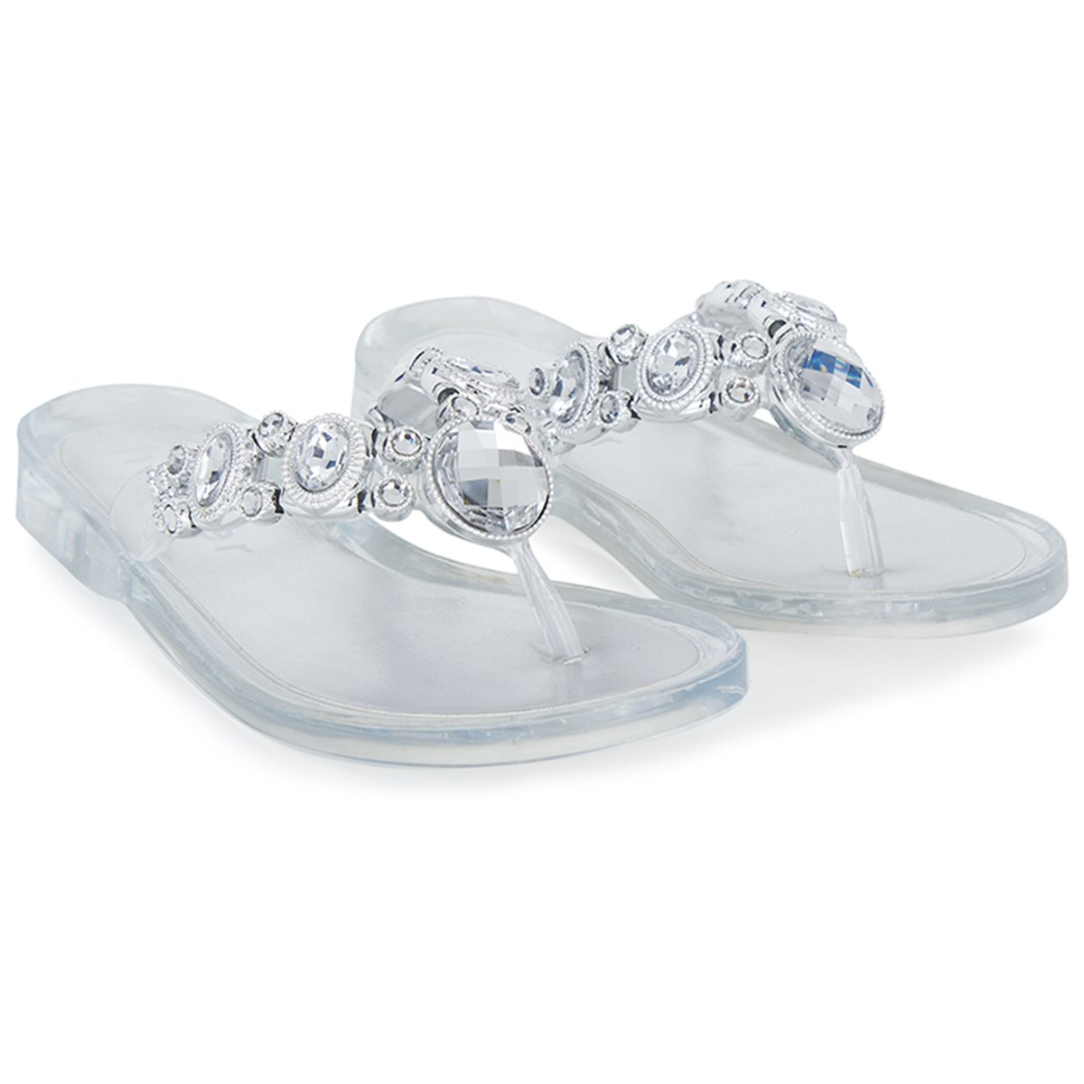 1e69d09eb Holster Clear Stud Jelly Sandals